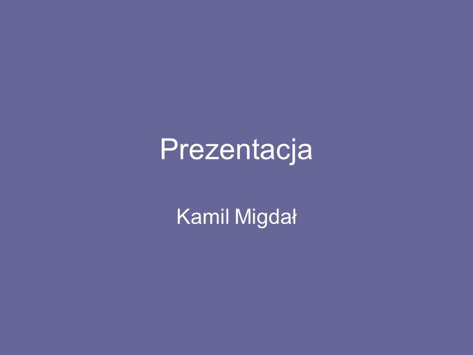 Prezentacja Kamil Migdał