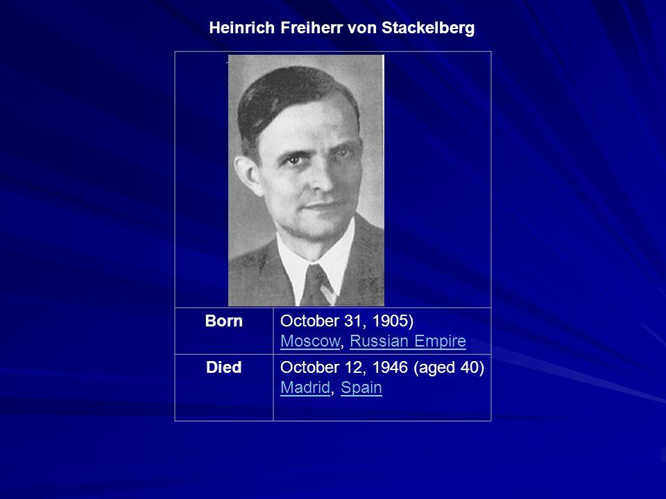 Heinrich Freiherr von Stackelberg