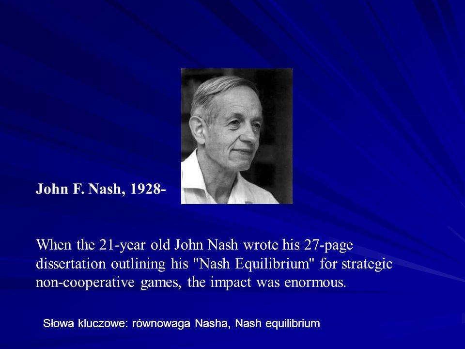 John F. Nash, 1928-