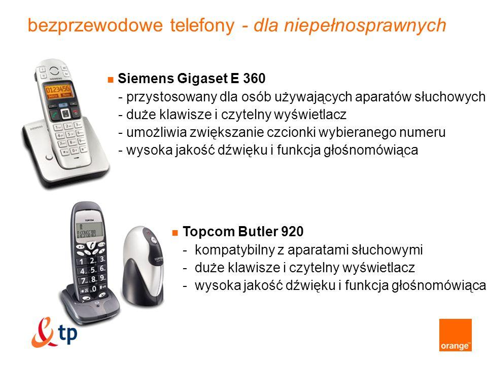 bezprzewodowe telefony - dla niepełnosprawnych