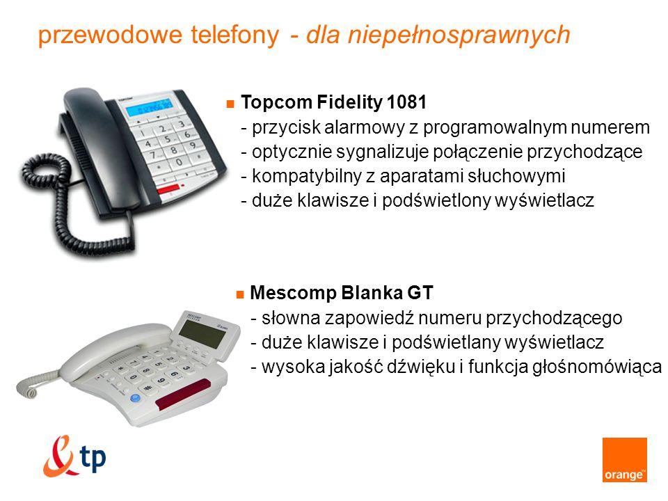 przewodowe telefony - dla niepełnosprawnych
