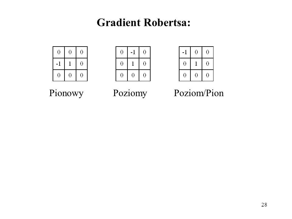 Gradient Robertsa: Pionowy Poziomy Poziom/Pion