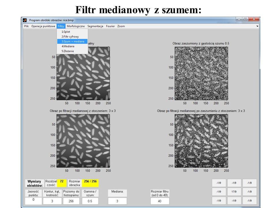Filtr medianowy z szumem: