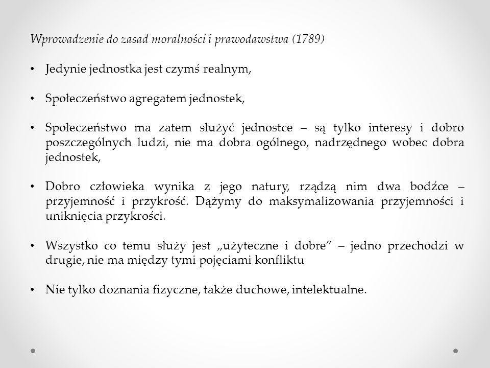Wprowadzenie do zasad moralności i prawodawstwa (1789)