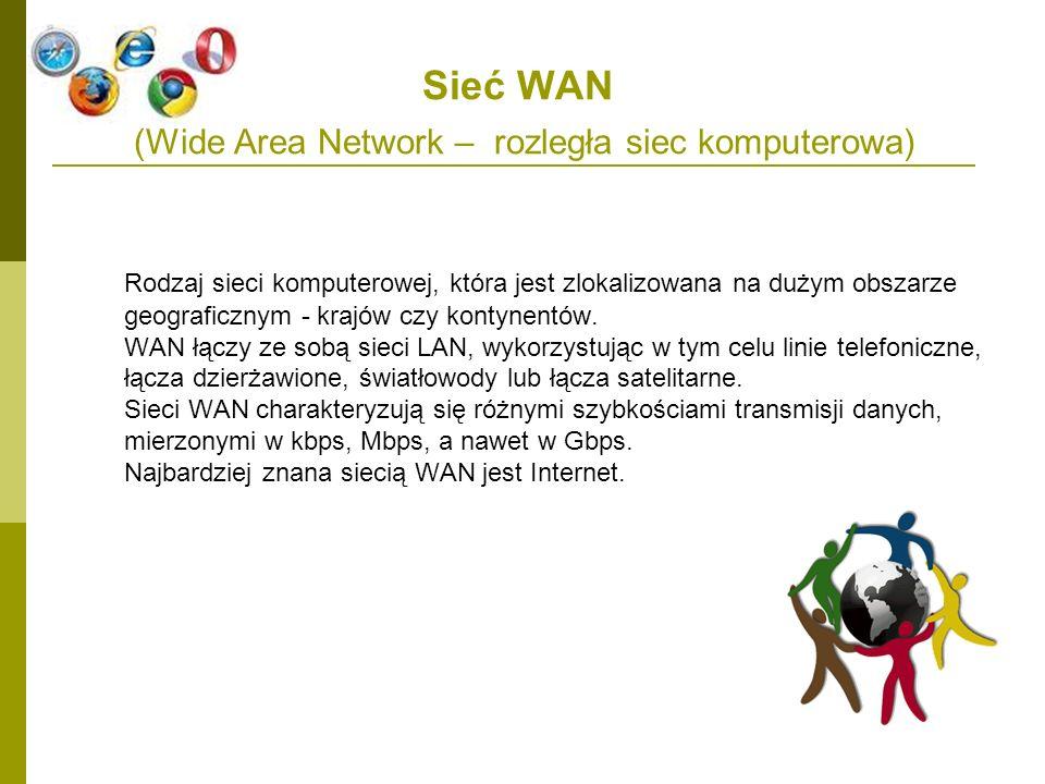 Sieć WAN (Wide Area Network – rozległa siec komputerowa)