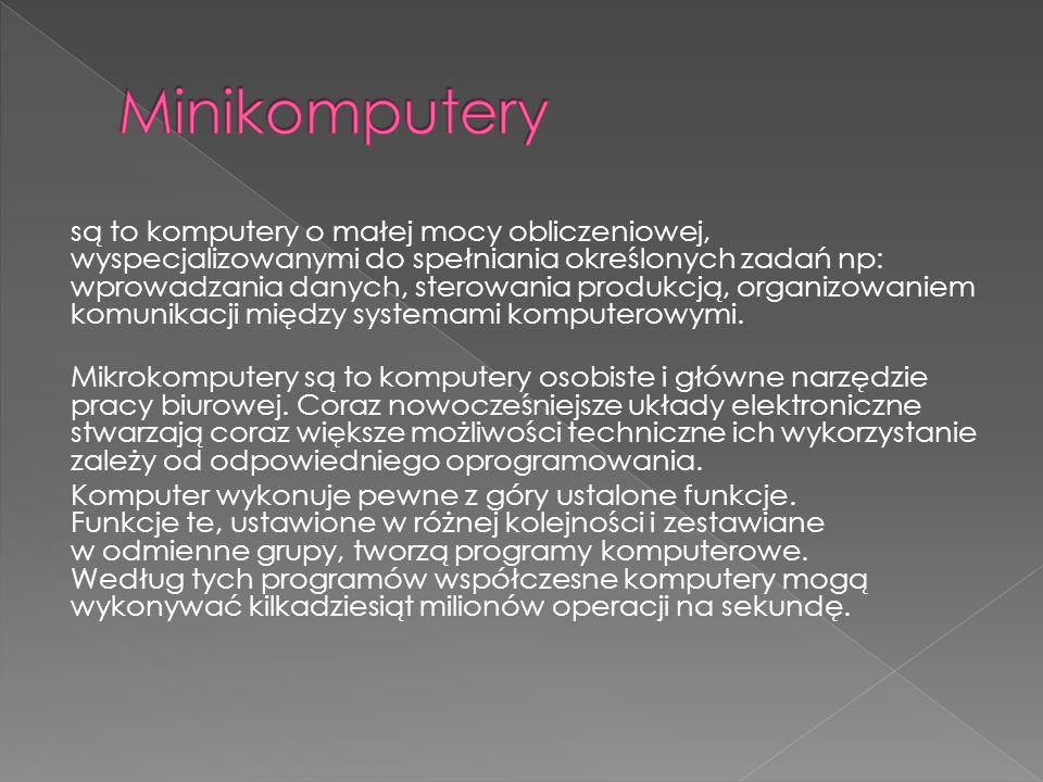 Minikomputery