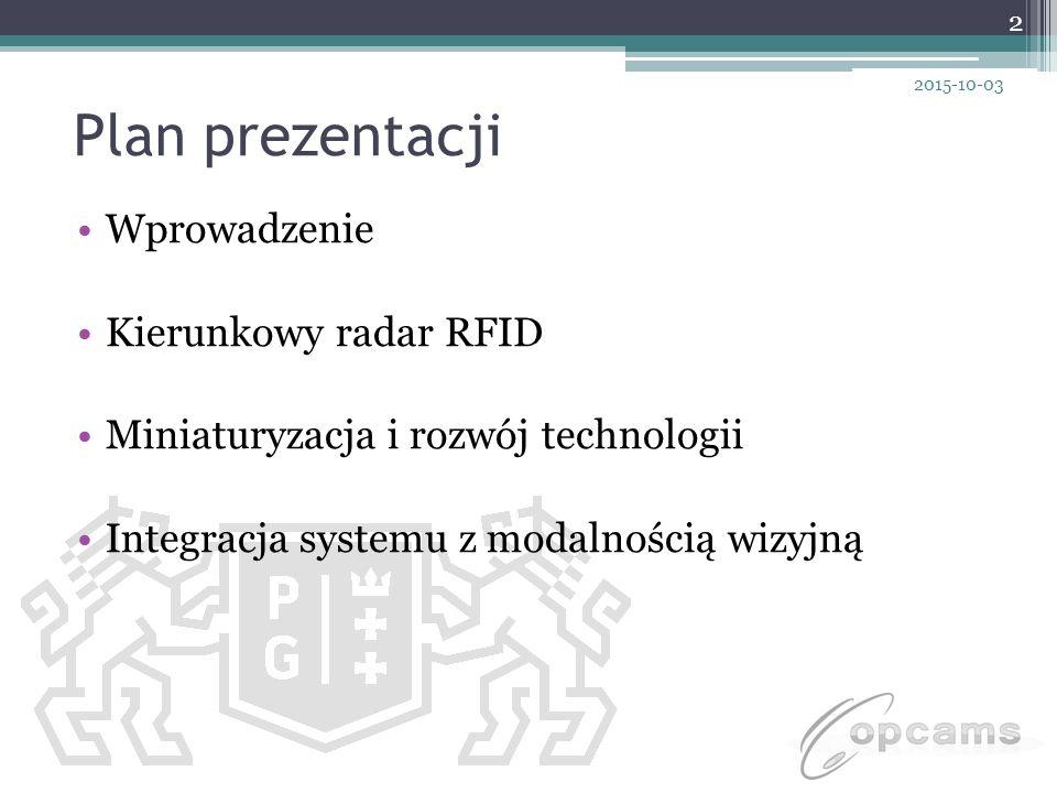Plan prezentacji Wprowadzenie Kierunkowy radar RFID