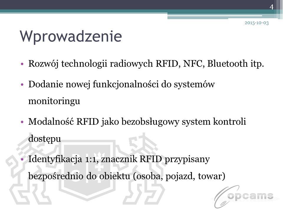 Wprowadzenie Rozwój technologii radiowych RFID, NFC, Bluetooth itp.