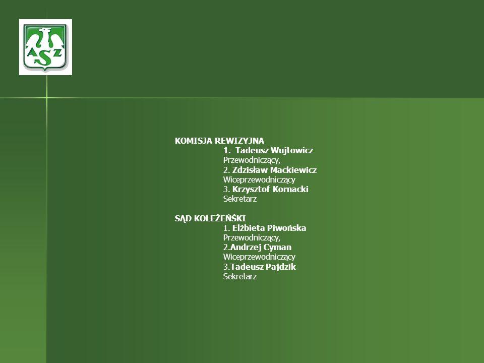 KOMISJA REWIZYJNATadeusz Wujtowicz. Przewodniczący, 2. Zdzisław Mackiewicz Wiceprzewodniczący. 3. Krzysztof Kornacki Sekretarz.