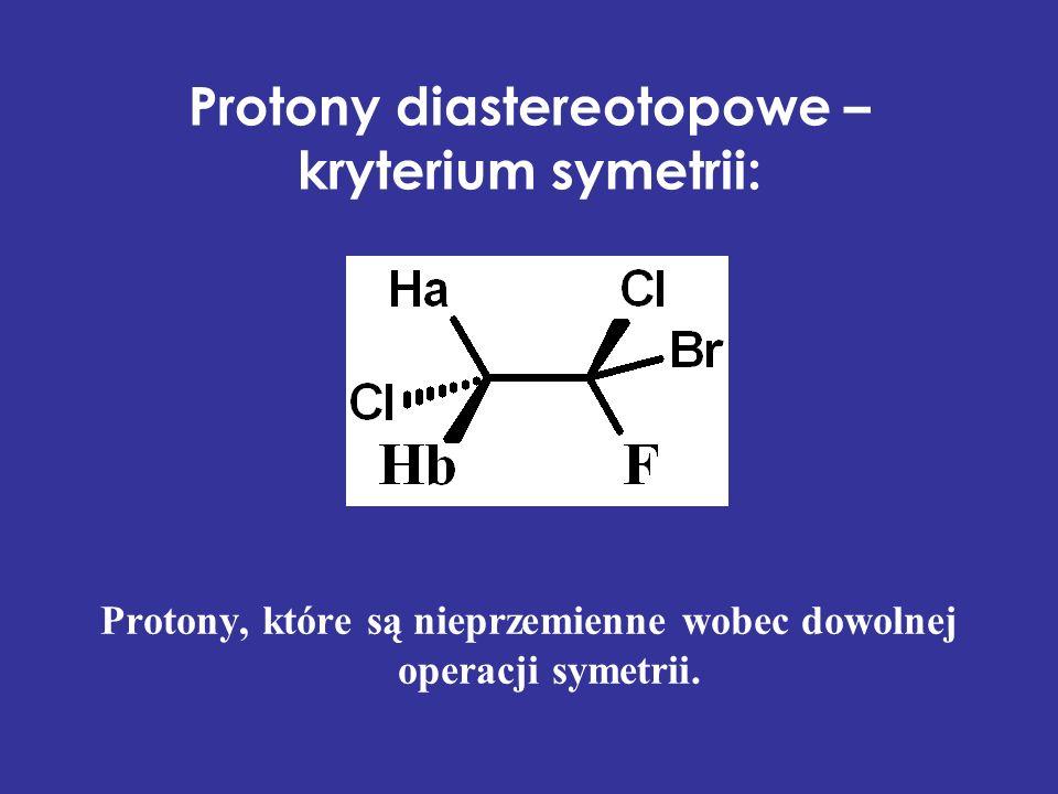 Protony diastereotopowe – kryterium symetrii: