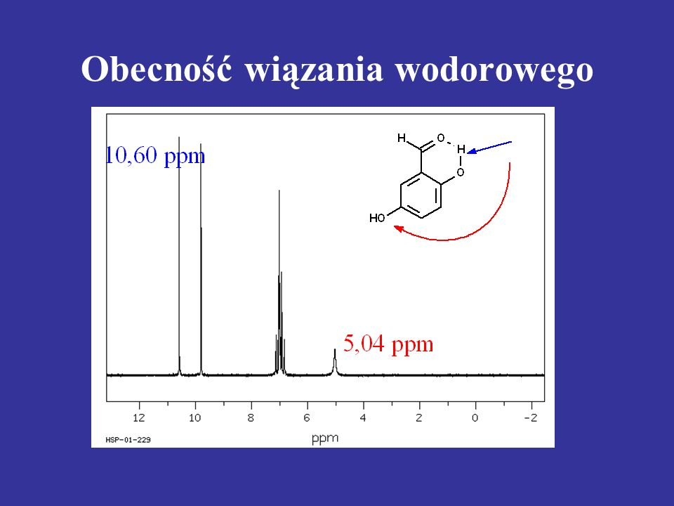 Obecność wiązania wodorowego