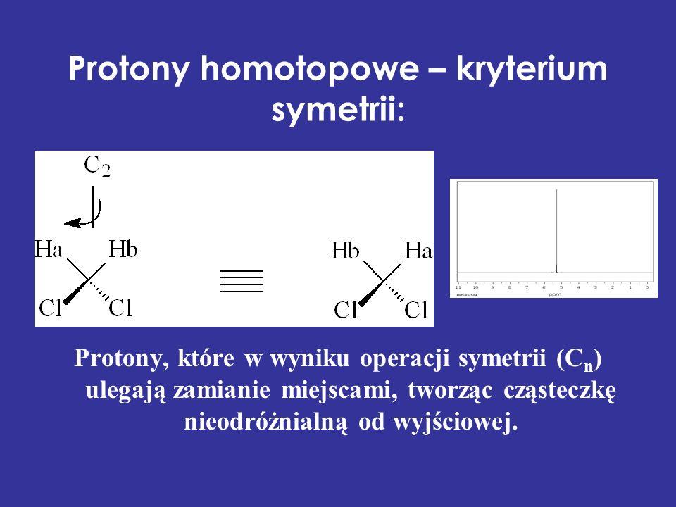 Protony homotopowe – kryterium symetrii: