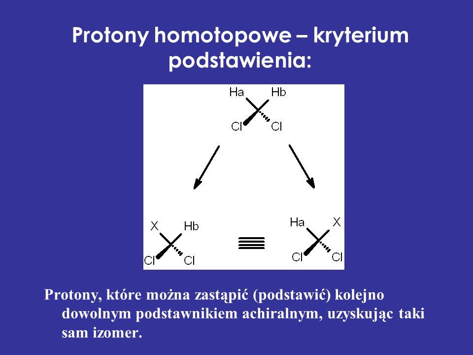 Protony homotopowe – kryterium podstawienia: