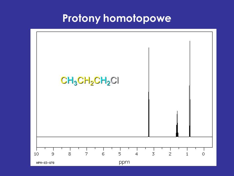Protony homotopowe CH3CH2CH2Cl