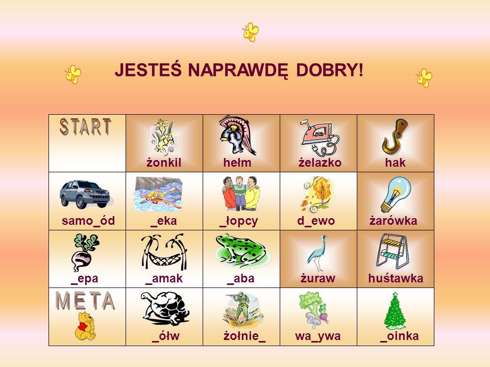 START META JESTEŚ NAPRAWDĘ DOBRY! żonkil hełm żelazko hak samo_ód _eka