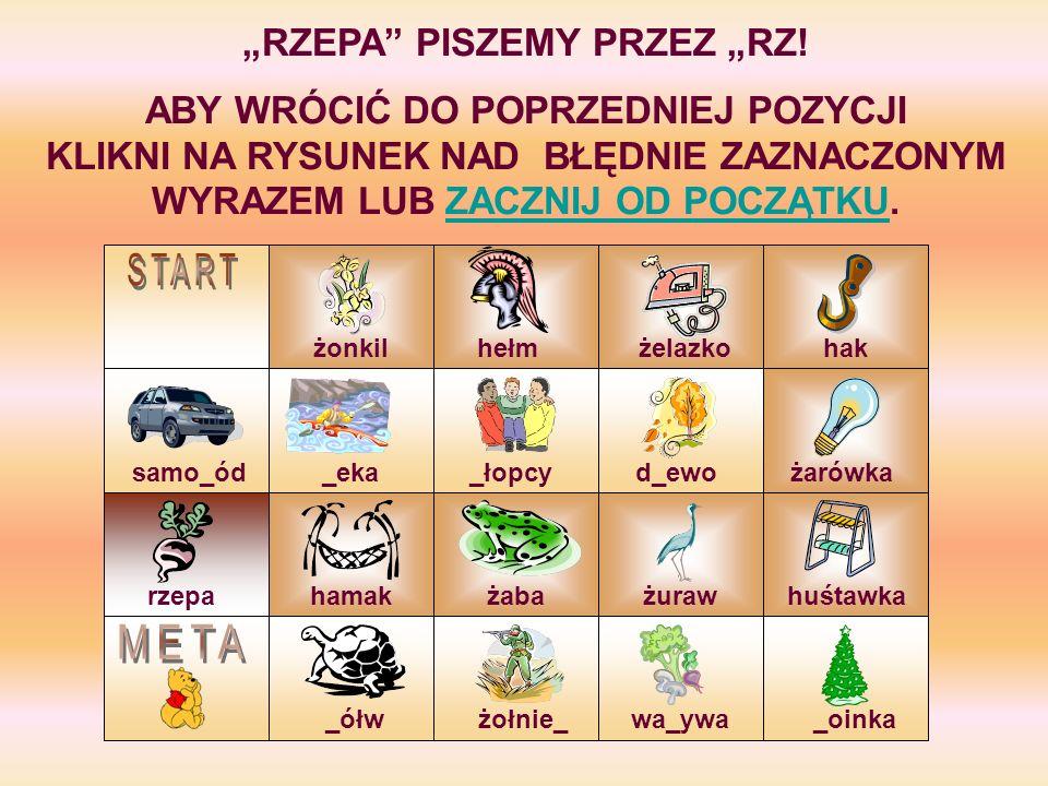 """""""RZEPA PISZEMY PRZEZ """"RZ!"""