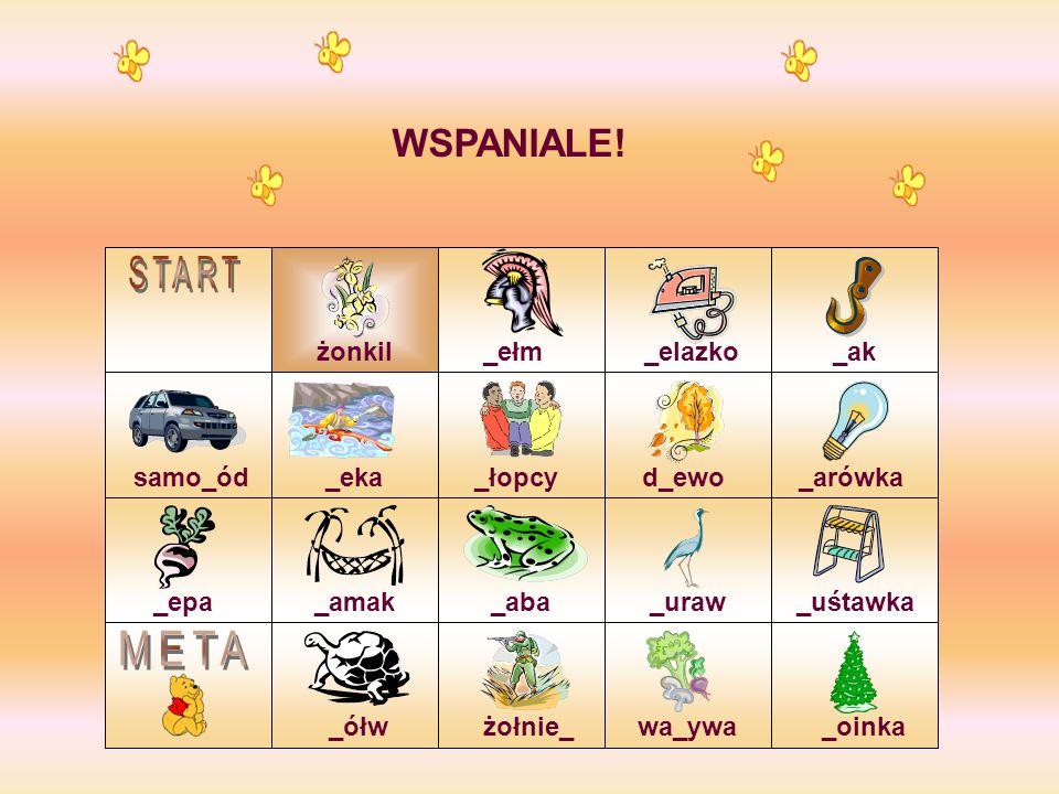 START META WSPANIALE! żonkil _ełm _elazko _ak samo_ód _eka _łopcy