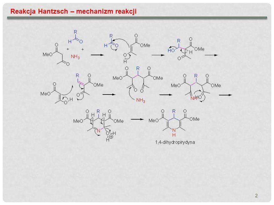 Reakcja Hantzsch – mechanizm reakcji