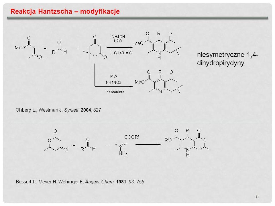 Reakcja Hantzscha – modyfikacje
