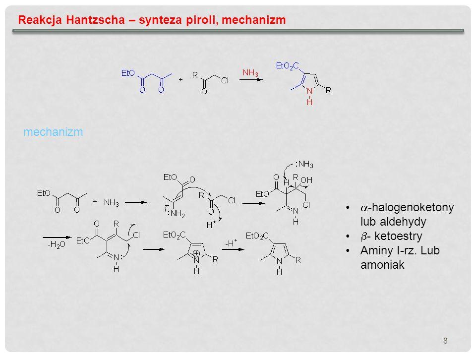 Reakcja Hantzscha – synteza piroli, mechanizm