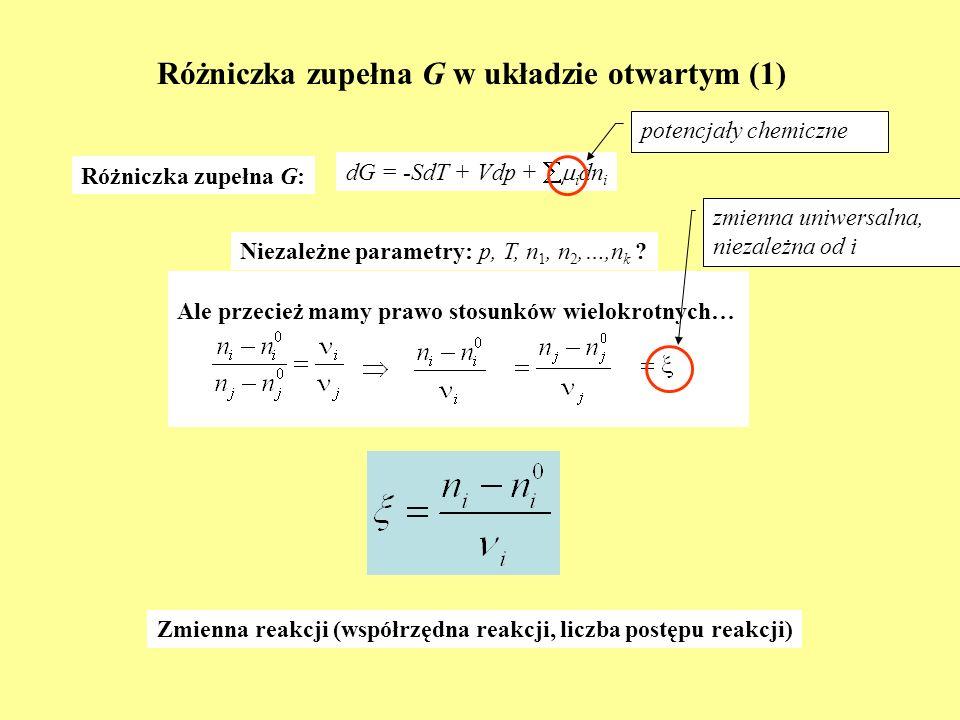 Różniczka zupełna G w układzie otwartym (1)