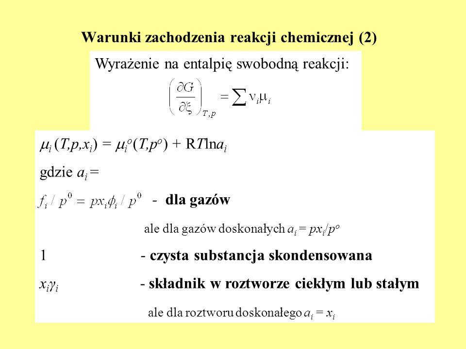 Warunki zachodzenia reakcji chemicznej (2)