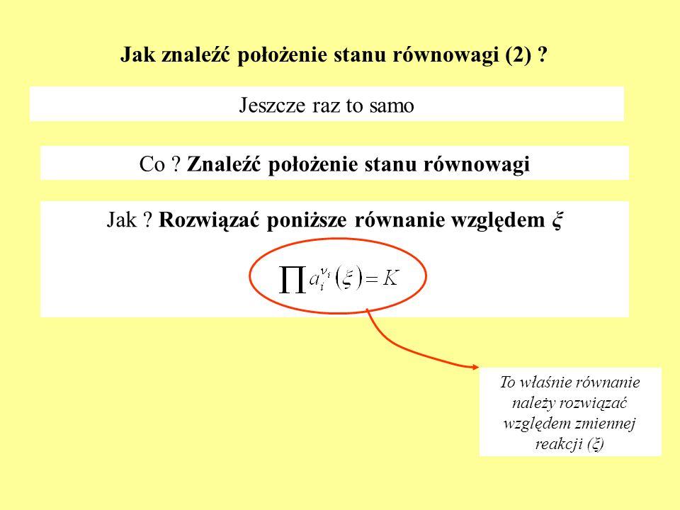Jak znaleźć położenie stanu równowagi (2)