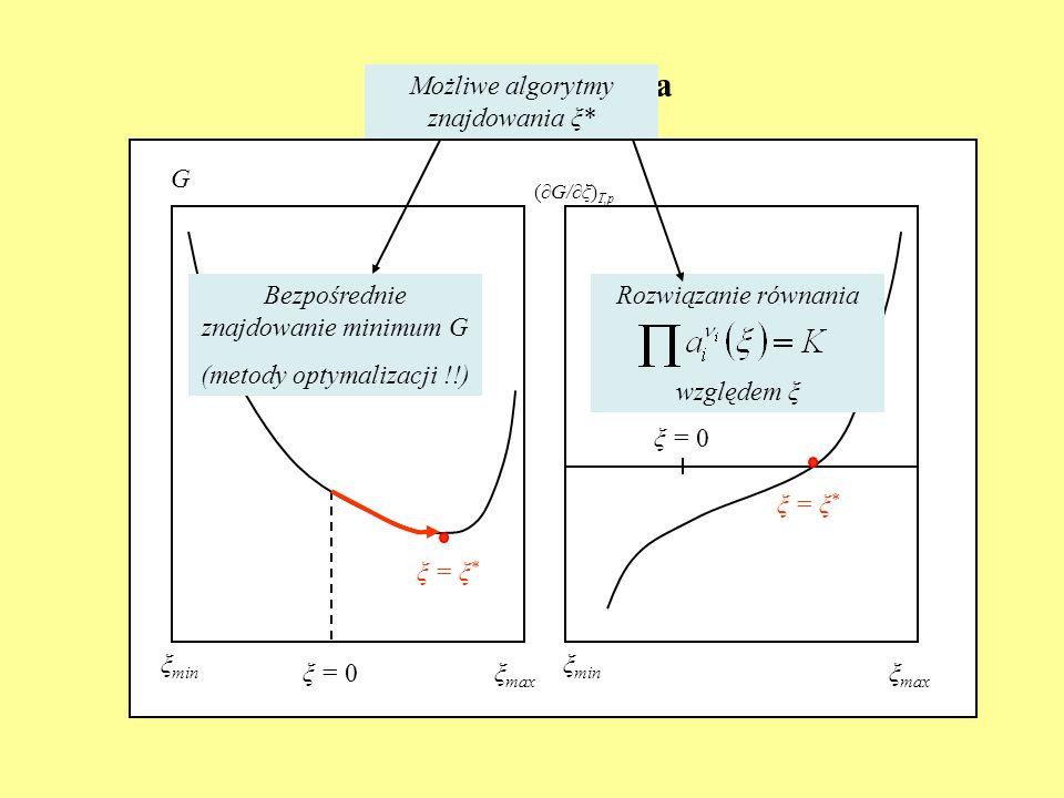 Ilustracja graficzna Możliwe algorytmy znajdowania ξ* G