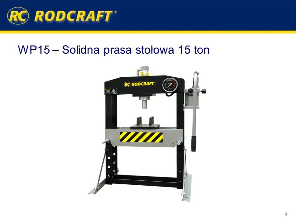 WP15 – Solidna prasa stołowa 15 ton