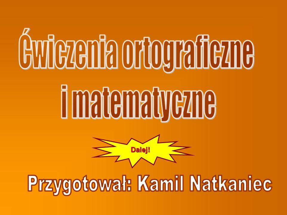 Ćwiczenia ortograficzne i matematyczne