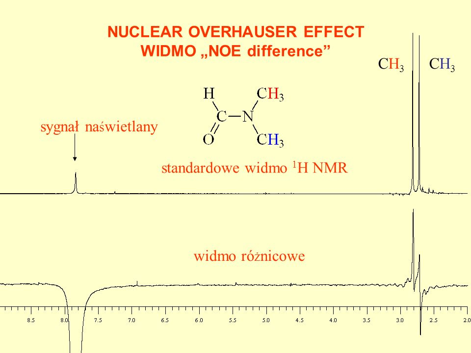"NUCLEAR OVERHAUSER EFFECT WIDMO ""NOE difference"