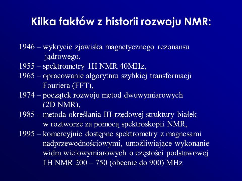 Kilka faktów z historii rozwoju NMR: