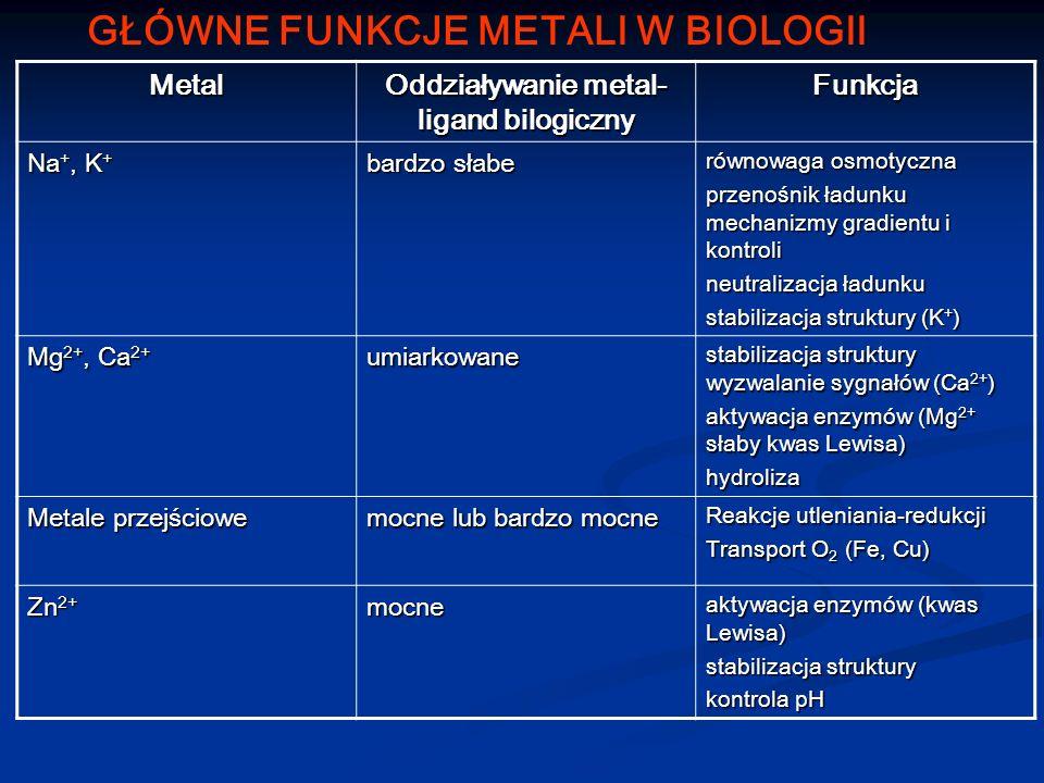Oddziaływanie metal-ligand bilogiczny