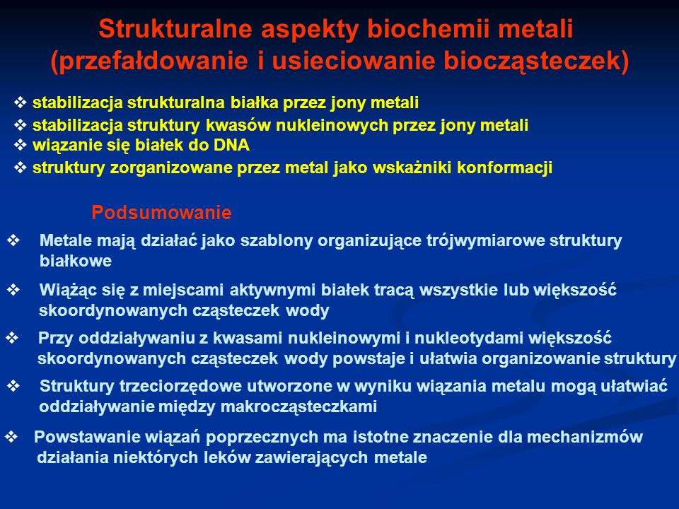 Strukturalne aspekty biochemii metali