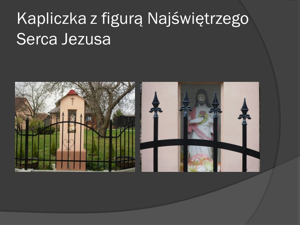 Kapliczka z figurą Najświętrzego Serca Jezusa
