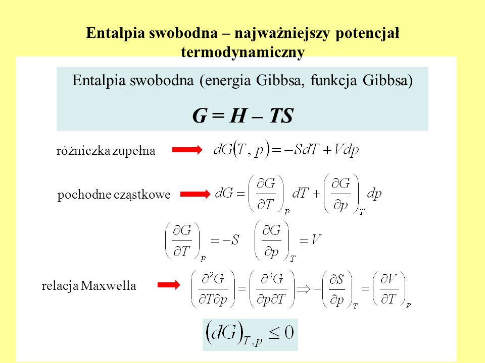 Entalpia swobodna – najważniejszy potencjał termodynamiczny