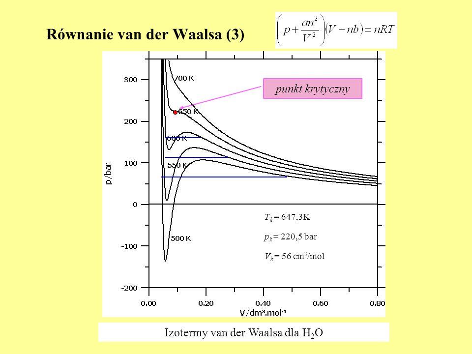 Równanie van der Waalsa (3)