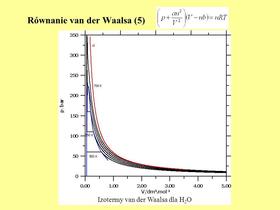Równanie van der Waalsa (5)