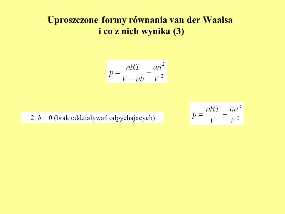 Uproszczone formy równania van der Waalsa i co z nich wynika (3)