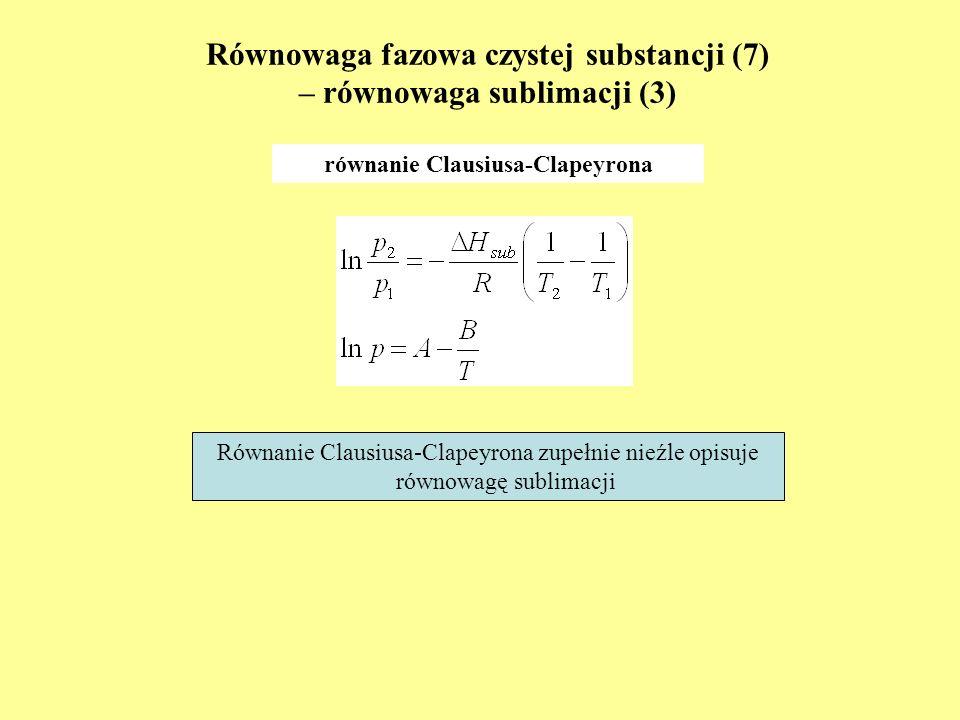 Równowaga fazowa czystej substancji (7) – równowaga sublimacji (3)
