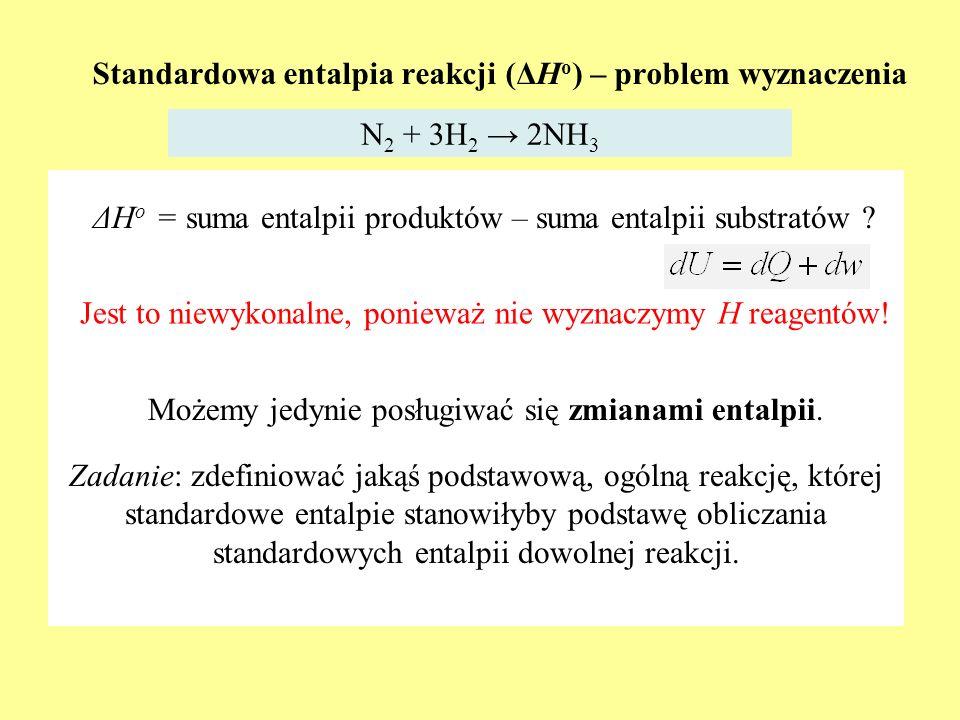 Standardowa entalpia reakcji (ΔHo) – problem wyznaczenia