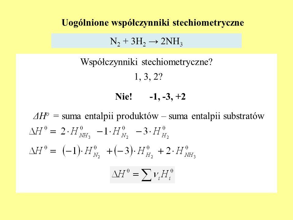 Uogólnione współczynniki stechiometryczne