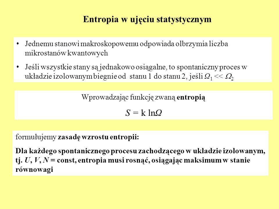 Entropia w ujęciu statystycznym
