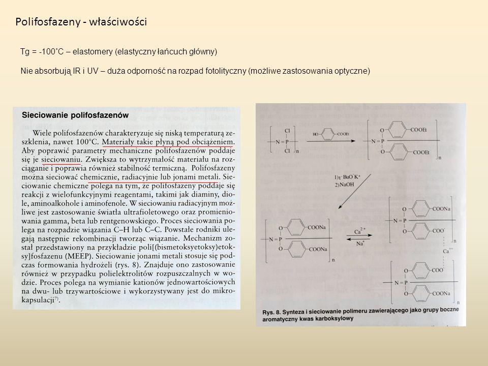 Polifosfazeny - właściwości