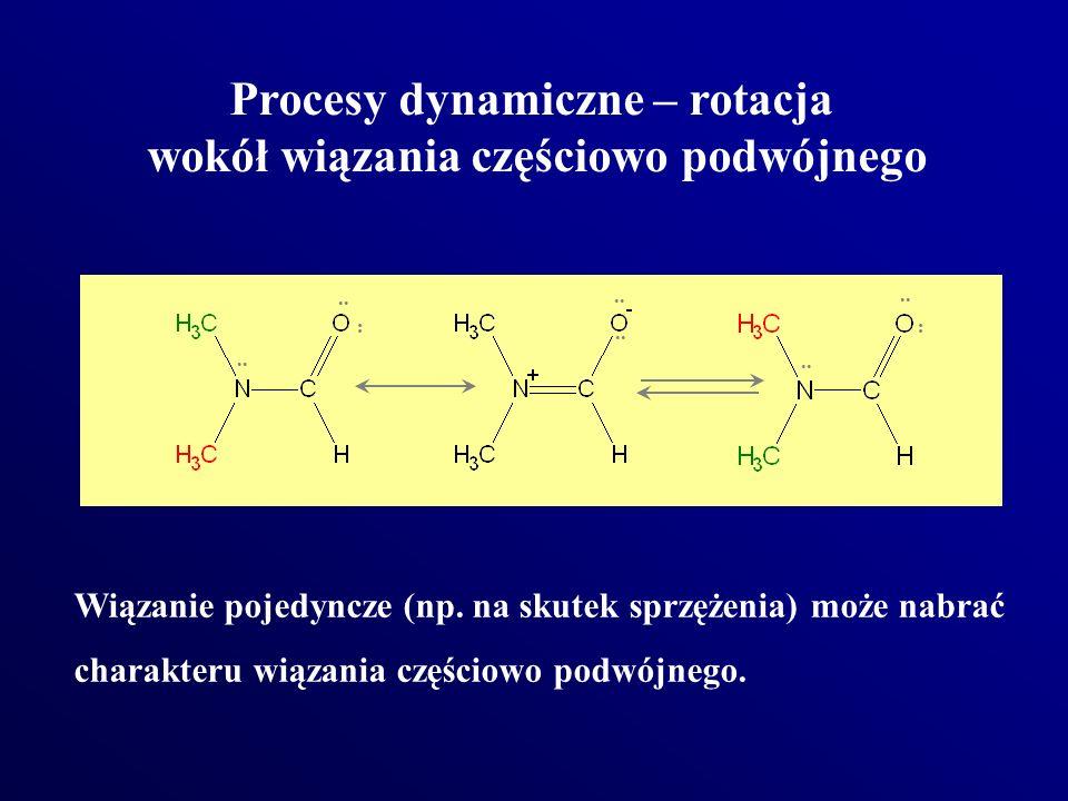 Procesy dynamiczne – rotacja wokół wiązania częściowo podwójnego