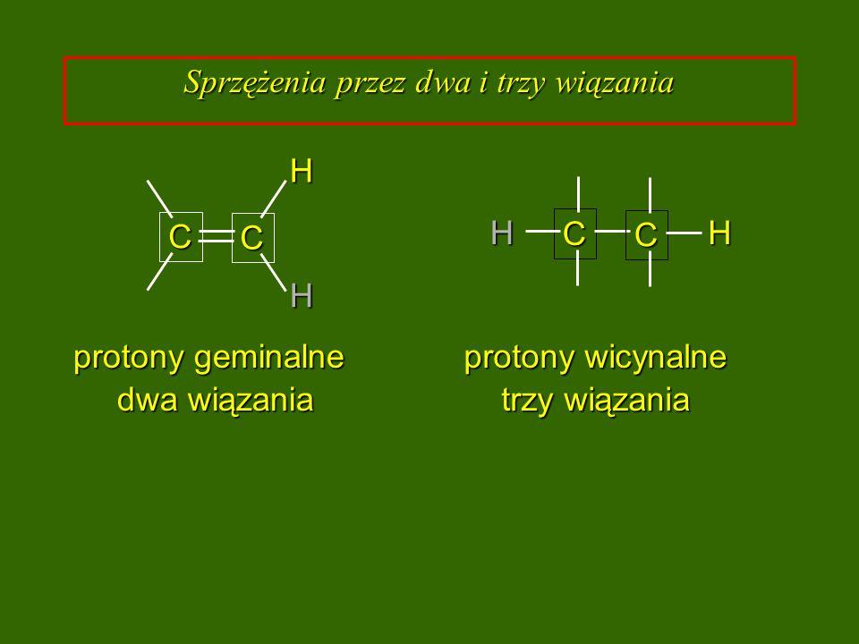 Sprzężenia przez dwa i trzy wiązania