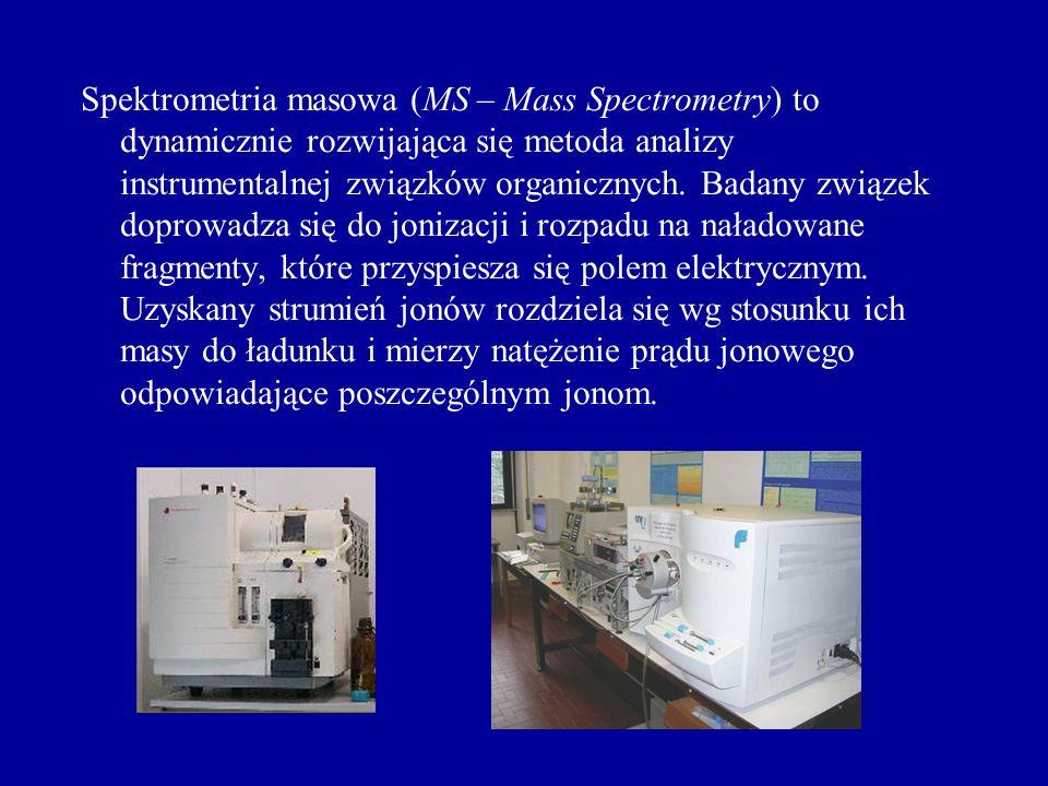 Spektrometria masowa (MS – Mass Spectrometry) to dynamicznie rozwijająca się metoda analizy instrumentalnej związków organicznych.