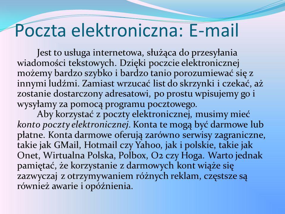 Poczta elektroniczna: E-mail