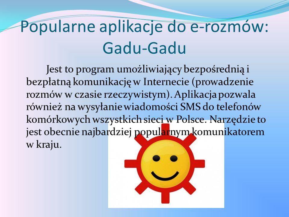 Popularne aplikacje do e-rozmów: Gadu-Gadu