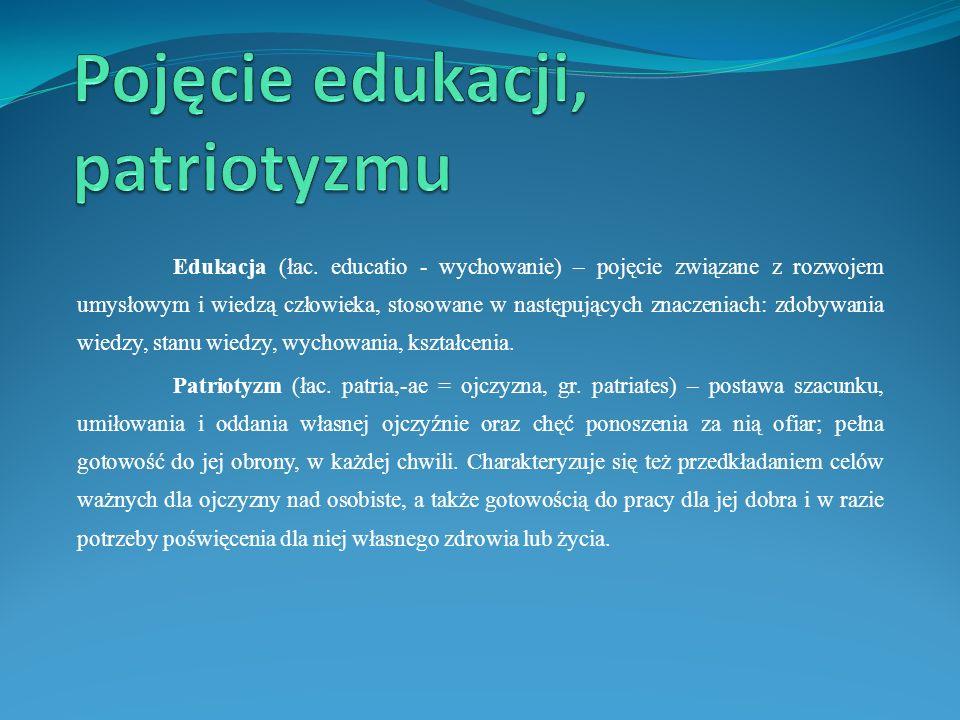 Pojęcie edukacji, patriotyzmu